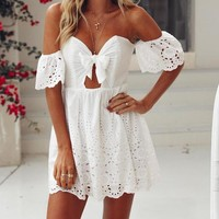 Rayanna Lace Detailed Off-the-Shoulder Dress