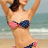 Stars and Stripes Bandeau Bikini