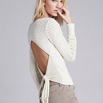 Free People Womens Bow Back Pullover