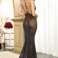 Trashy.com - Lingerie - panties - hosiery - swimsuit models - sexy lingerie - Shimmer Mesh Gown