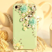 iphone 4 case crystal iphone 4s case iphone cover by KateDesignArt