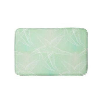 Starfish Sea Green Beach Bath Mat