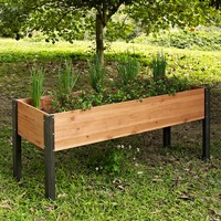 Coral Coast Bloomfield Wood Elevated Garden Bed - 70L x 24D x 29H in. | www.hayneedle.com