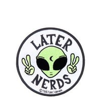 Later Nerds Iron-On Patch - Green