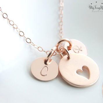 Heart Necklace Mother Daughter Jewelry Mother Daughter Necklace Set Rose Gold Heart Gifts for Mom Daughter Gift Set mother daughter gift