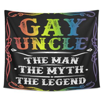 LGBT Gay Pride Tapestry - Gay Uncle