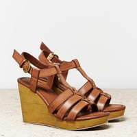 AEO Gladiator Wedge, Brown | American Eagle Outfitters
