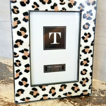 Bone Photo Frame-Leopard