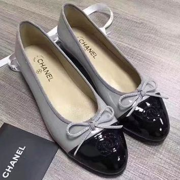 CHANEL BOW Women Fashion Loafer Flats Shoes5
