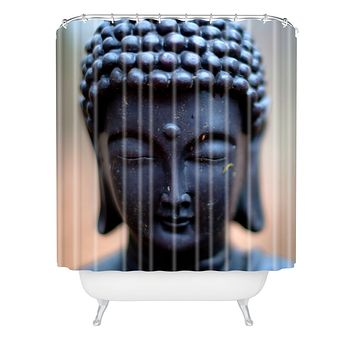 Bird Wanna Whistle Buddha Shower Curtain