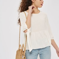 Peplum Casual Top - Shirts & Blouses - Clothing