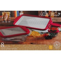 The Pioneer Woman Flea Market 8-Piece Glass Bake and Store Decorated Set - Walmart.com
