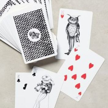 Florence Balducci Wild Masquerade Playing Cards in Black Size: One Size Gifts