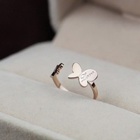 Love Butterfly Open Ring