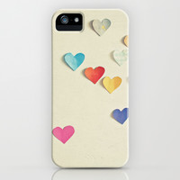 Paper Hearts iPhone & iPod Case by Cassia Beck