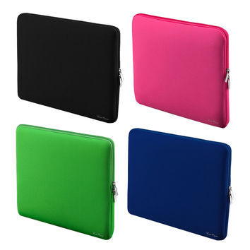 "LSS Portable Zipper Soft Sleeve Laptop Bag Laptop Case for MacBook Pro Retina Ultrabook Notebook 15"" 15.6"" 15 inch Light Weight"