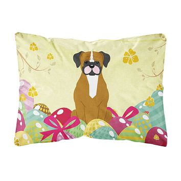 Easter Eggs Flashy Fawn Boxer Canvas Fabric Decorative Pillow BB6116PW1216
