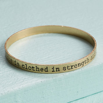 Altar'd State Strength & Dignity Bangle Bracelet - Bracelets - Jewelry