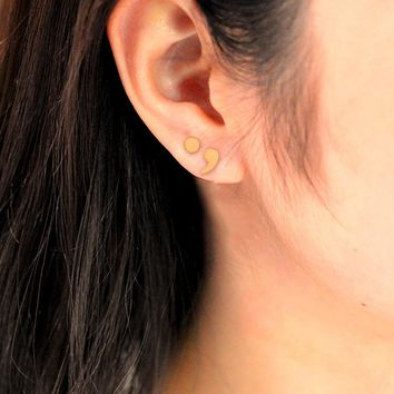 Semicolon Stud Earring