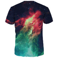 Fashion 3d T-shirt Men/Women Summer Tops Tees Print Volcanic Space Galaxy T shirt Male Tshirts