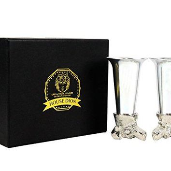 Luxury Unique Shot Glass I Shatterproof Tequila Glass I Premium Elegant Liquor Glasses (Set of 2) For Tequila Shots, Wine, Scotch Whisky- DOG LOVERS EDITION