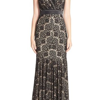 Women's Betsy & Adam Lace Mermaid Gown,