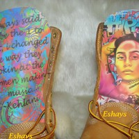 Customize Your Own Face or Celebrity Inspired Timberland Boots