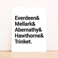 Hunger Games Katniss and Peeta and Haymitch and Gale and Effie PRINTABLE Typography Poster Dorm Decor Apartment Decor Poster