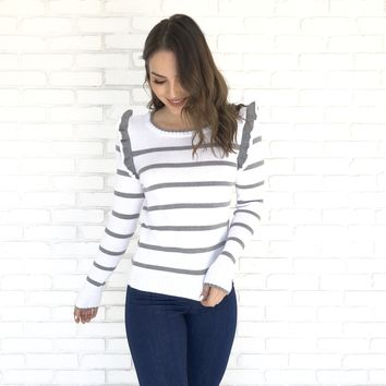 My Only Love Stripe Knit Sweater