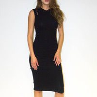 Little Black Dress With Shoulder Cuts