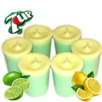 6 7Up Votive Candles Lemon Lime Soda Scent