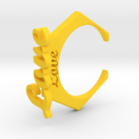 3d printed Love Ring by cranberrysky on Shapeways