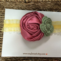 Headband, Baby Headband, Photo Prop, Photography Prop, Baby, Girl, Headband, Hair Accessory, Headband, Flower, Flower Headband