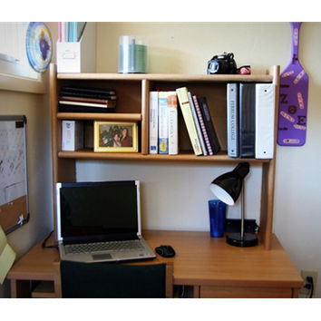 Eco-Shelf - Dorm Room Desk Bookshelf Cool Dorm Storage Item College Supplies Textbooks Books Dorm Shelf
