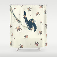 The Fall Shower Curtain by Paula Belle Flores