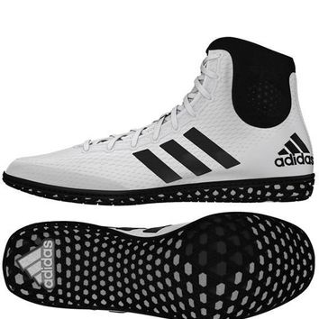 ADIDAS TECH FALL WRESTLING SHOES - BLACK/WHITE