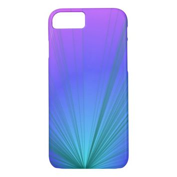 Purple and Powder Blue Design iPhone 7 Case