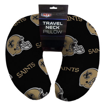 New Orleans Saints NFL Beadded Spandex Neck Pillow (12in x 13in x 5in)