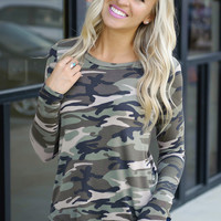 Hidden Truth Camo Top