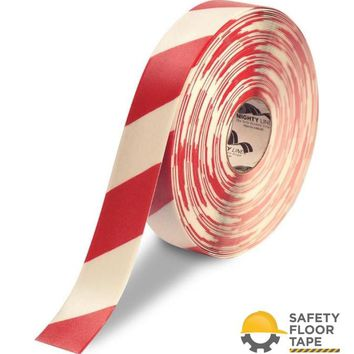 """2"""" White Floor Tape with Red Chevrons- Safety Floor Tape"""