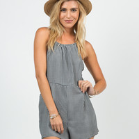 Gingham Cut Out Romper