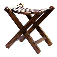 Aakashi Wooden Carved Stool