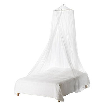 Mosquito Net - Foxnovo Toddler Bed Crib Canopy Mosquito Netting (White)