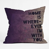Leah Flores With You Throw Pillow