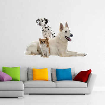 dogs wall Decals dogs wall decor dogs Full Color wall Decals Animals wall Decals veterinary clinic decor Home Decor for kids room cik2235