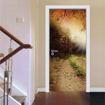 3D Wall Sticker Bathroom Decal Art Decor Vinyl Removable Mural Poster Scene Window Door