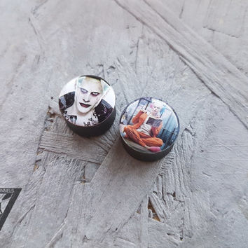 SALE suicide squad plugs image ear plugs 4,5,6,8,10,12,14,16,18,20,22,24-60mm;6g,4g,2g,0g,00g;1/4,5/16,3/8,1/2,9/16,5/8,3/4,7/8,1 1/4,1""