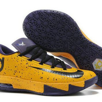 Late Nike Kevin Durant 6 Montverde Academy Eagles PE Findlay Prep Pilots PE Bright Citrus Court Purple Brand sneaker