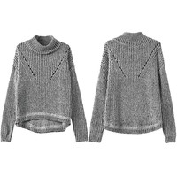 Gray Heathered Long Sleeve Sweater