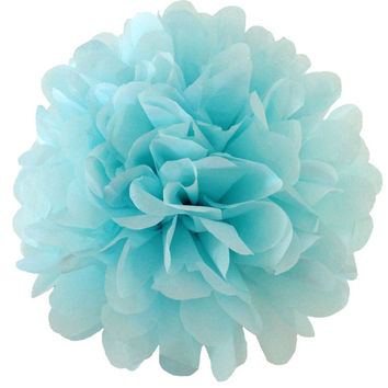 18 inch large Light Blue pompom,party poms,birthday pompoms,Firstbirthday,baby shower,hanging poms,nursery pom pom,pompoms,party decorations